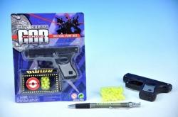 Pistole na kuličky 10cm + kuličky na kartě