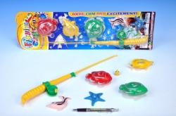 Hra ryby/rybář 5ks+prut 38cm na kartě