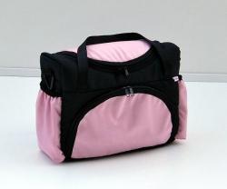 Taška na kočárek grafitovo růžová