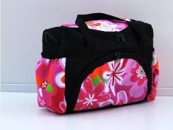 Taška na kočárek Květy růžové