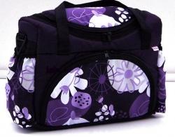Taška na kočárek Květy fialové