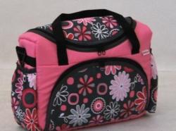 Taška na kočárek růžové květy