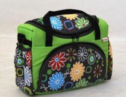 Taška na kočárek zelené květy