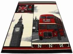 Koberec London Bus black