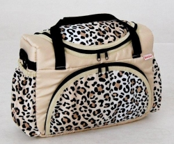 Taška na kočárek Leopard béžový
