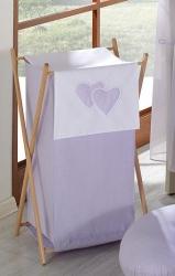 Koš na prádlo Srdíčka fialová