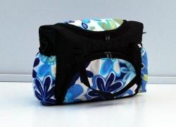 Taška na kočárek Květy modré