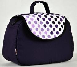 Taška na kočárek Kapky fialové