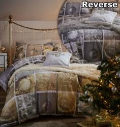 Povlečení Vánoční ozdoby, Rozměr jednolůžko 1ks 135x200 + 1ks 50x75cm