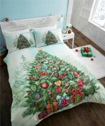 Fotografie Povlečení Vánoční stromeček, Rozměr povlečení dvoulůžko 1ks 200x200+2ks 75x50cm