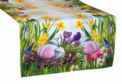 Velikonoční běhoun na stůl Kraslice, Rozměr běhounu 40 x 140cm