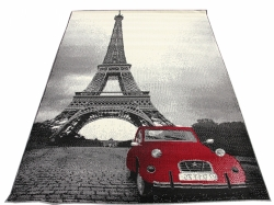 Koberec Citroen Eiffel grey red city