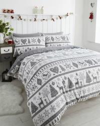 Povlečení Vánoční motiv noel šedý, Výběr rozměru jednolůžko 1ks 138x200+1ks 50x75cm