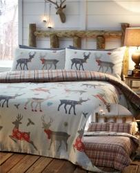 Povlečení Vánoční jeleni 100% bavlna flanel