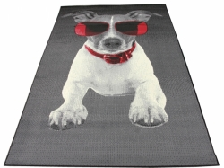 Koberec Doggy Dog black red city