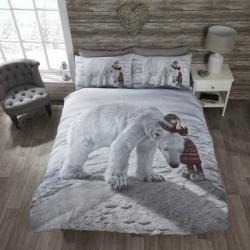 Povlečení Lední medvěd s holčičkou, Rozměr povlečení jednolůžko 1x 135 x 200 + 1ks 50 x 75cm