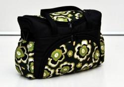 Taška na kočárek Květy zelené