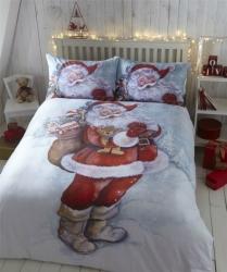 Povlečení Vánoce Santa 100% bavlna flanel, Rozměr povlečení 138x200cm