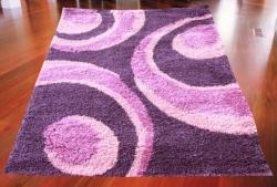 Koberec Shaggy Pavo fialové, Rozměr koberce 80x150cm