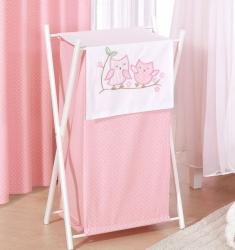 Koš na prádlo Sovičky růžové